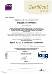 Crouzet Aerospace afaq certification 9104