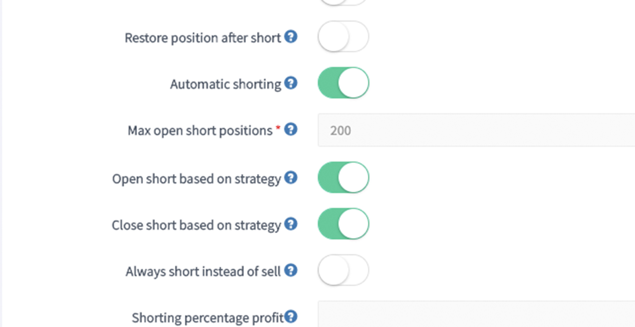 shorting short trailing stop stop-short automated automatic crypto cryptocurrency bitcoin ethereum trading bot platform cryptohopper