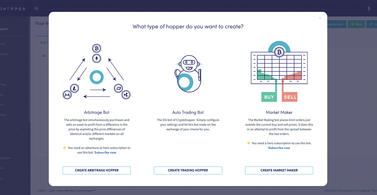 trader cryptohopper vs