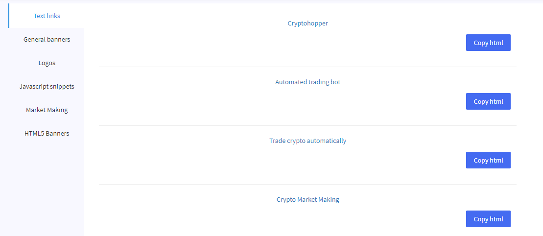 crypto affiliate program invite friend passive income portfolio management manager free blockfolio delta automated automatic crypto cryptocurrency bitcoin ethereum trading bot platform cryptohopper