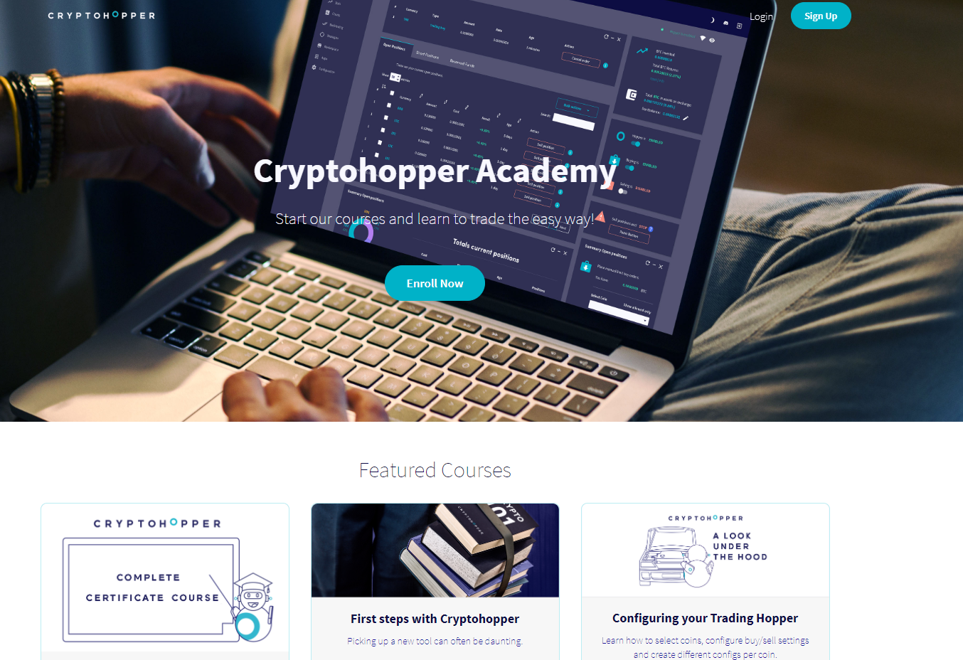 Academy Automated automatic trading bot platform crypto cryptocurrencies Cryptohopper bitcoin ethereum