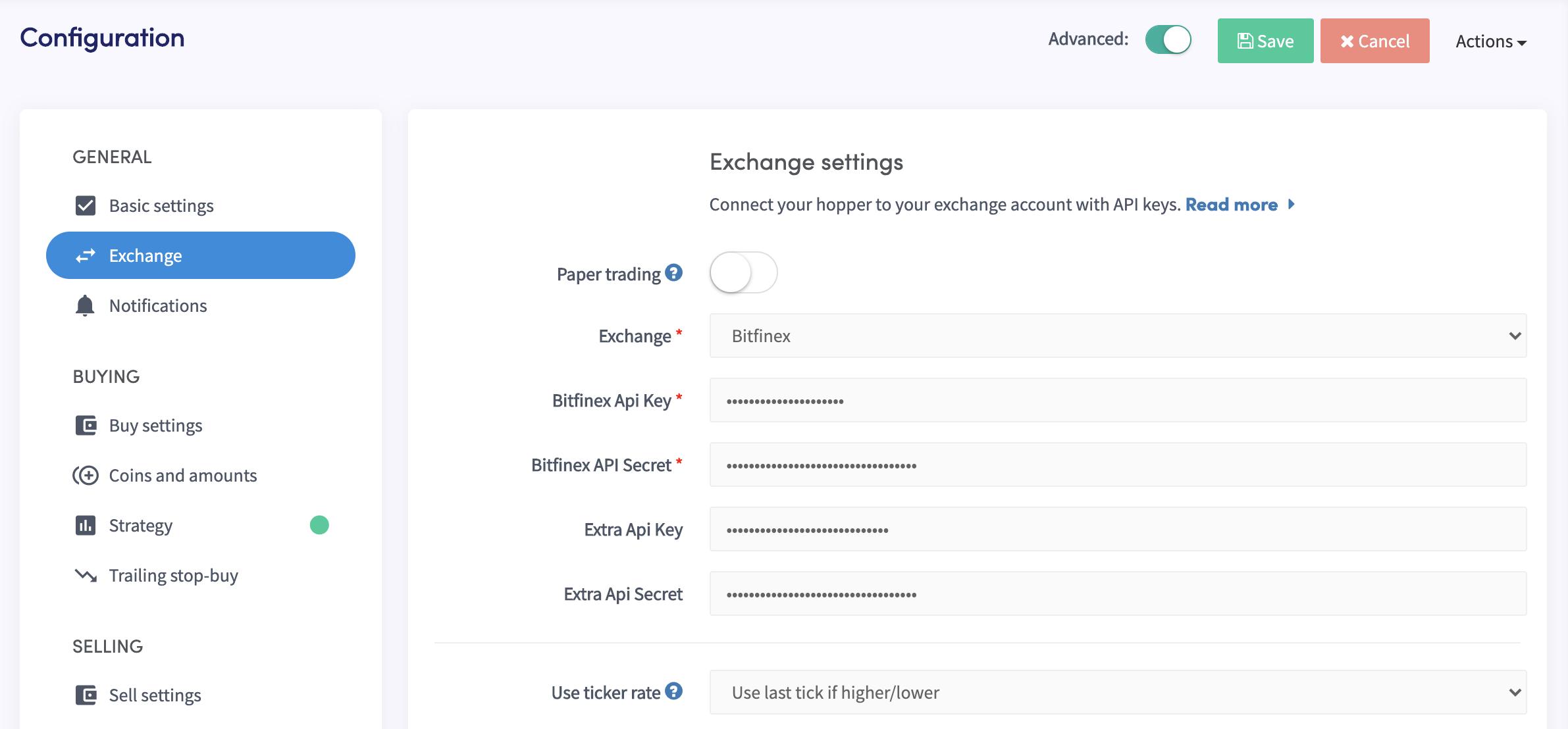Bitfinex exchange pro Automated automatic trading bot platform crypto cryptocurrencies Cryptohopper bitcoin ethereum