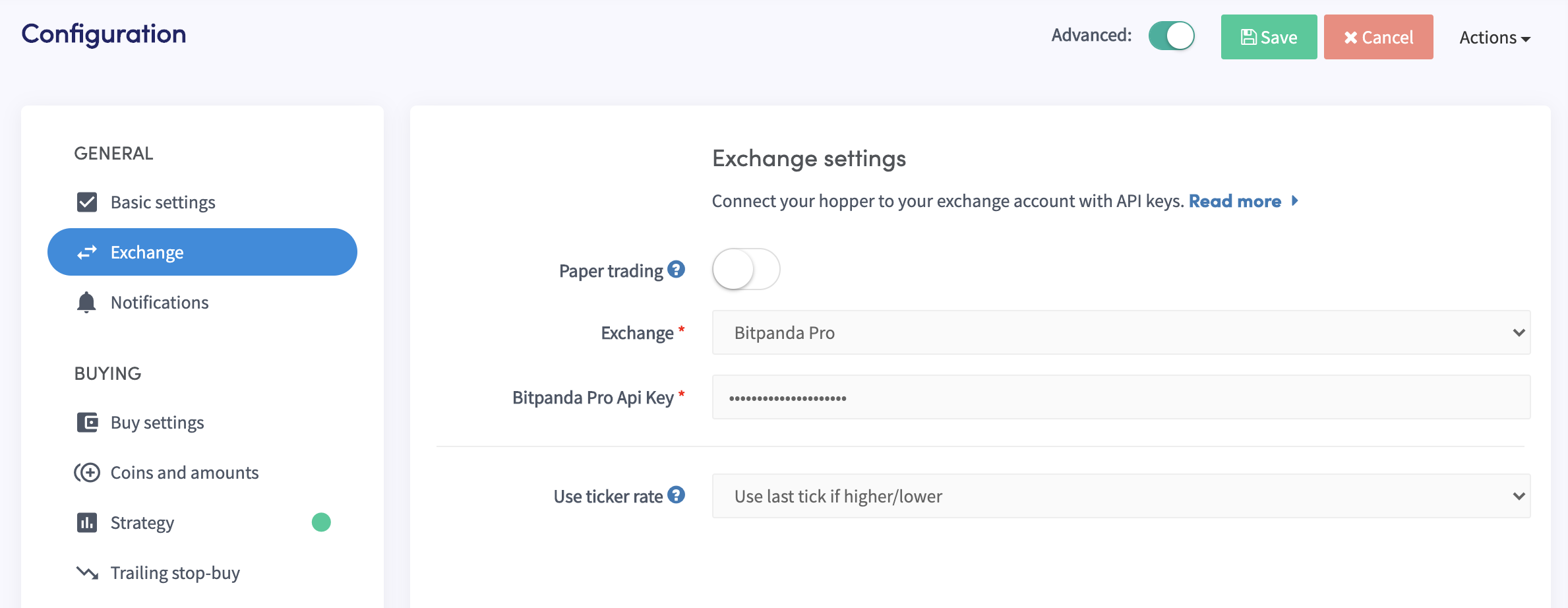 Bit panda bitpanda exchange pro Automated automatic trading bot platform crypto cryptocurrencies Cryptohopper bitcoin ethereum