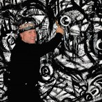 Visual artist Daniel Cascardo demonstrates an Art Action Experience