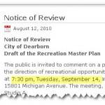 Recreation Plan Review