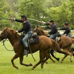 Civil War Cavalry Charge at Greenfield Village in Dearborn, Michigan