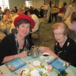 Oakwood Common resident Sue Kennedy, at right, takes tea with her daughter Elizabeth Thomson