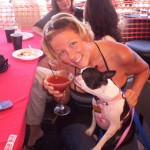Michelle O'Dell with her pup enjoying the fun at Hogs 4 Dogs in 2010