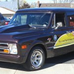 "Blohm's classic vehicle ""The Beast"" - a 1968 C10 Chevrolet panel wagon"