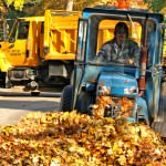 Photo courtesy of the City of Dearborn. Rake your loose leaves into the street the day before your trash day/Public Service Days for pickup beginning the week of Oct. 24.