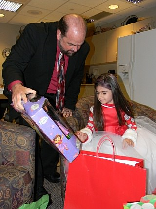 Five-year-old Amara El-Mahmoud turned on lights Dearborn's Christmas Tree