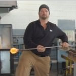 Glass blowing jester