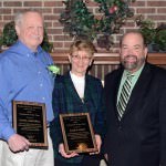 "Dearborn Mayor John B. O'Reilly, Jr. congratulated Marion Harris and Daniel Greenwell, who were awarded the ""Senior Volunteers of the Year"" during the volunteer appreciation breakfast on March 14."