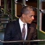 President Obama on the Rosa Parks Bus