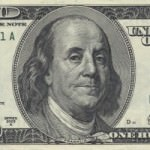 Benjamin Franklin - portrait on $100 bill