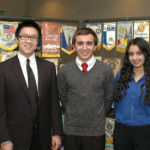 Participating in the Dearborn Rotary Club Pas Presidents' Leadership Scholarship presentation are from left, Dearborn Rotarian and Scholarship Chairperson John Artis, scholarship recipients Jason Lin, Samuel Mousigian and Hana Bagomaan with Dearborn Rotarian and Scholarship Founder Robert Young.