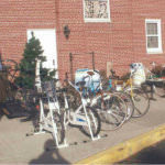 Potential buyers check out bikes for sale outside Cherry Hill Presbyterian Church during a previous Rummage Sale.