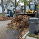 Put your leaves in bags or approved containers on your trash day to ensure pick up every week. In contrast, loose leaf collection may only occur in a neighborhood two times during the season. Loose leaf collection takes place on a neighborhood's trash day during a non-recycling week, but it may take several non-recycling weeks to complete a whole district.