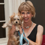 Tracy Balazy and Einstein; Adorable Adoptables are the star guests at Black Tie & Tails. Photo Credit: Besek Photography