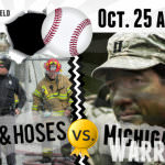 Guns and Hoses vs. Michigan Warriors - baseball game