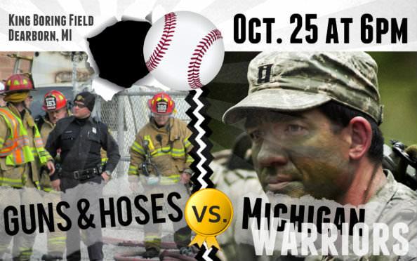 Guns and Hoses vs. Michigan Warriors - baseball game