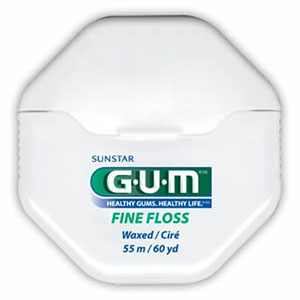GUM  BUTLER FINE FLOSS MINT WAXED 60YD