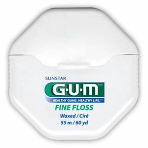 GUM  BUTLER FINE FLOSS MINT WAXED 60YD