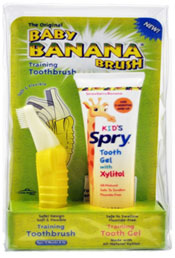SPRY INFANT TOOTH GEL & BANANA BRUSH 2OZ