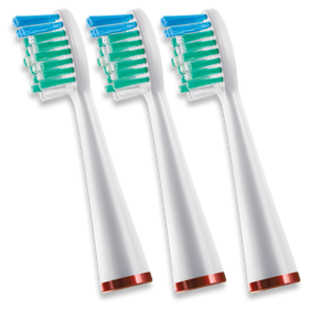 WATERPICK SONIC TOOTHBRUSH REPLACEMENT HEADS (3)