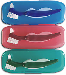 EZ-GRIP DENTURE BRUSH AND CASE