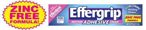 EFFERGRIP DENTURE ADHESIVE 2.5OZ