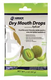 HAGER DRY MOUTH DROPS MELON