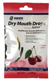 HAGER DRY MOUTH DROPS CHERRY