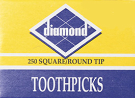 DIAMOND ROUND TOOTHPICK MARQUIS 250