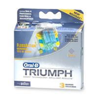 ORAL-B TRIUMPH, FLOSSACTION BRUSHHEAD EB25-3