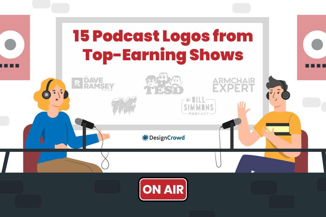 15 Podcast Logos from Top-Earning Shows blog thumbnail