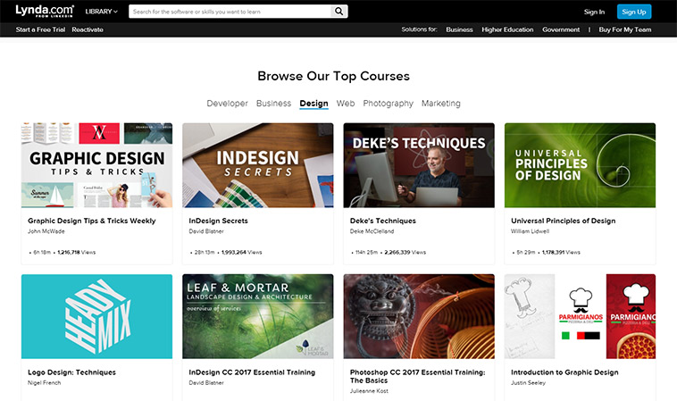 15 websites to turn you into a pro lynda is great not only for designers but also for entrepreneurs first of all it will enhance your design dexterity through hundreds of courses for all reheart Gallery