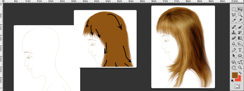 Fantastic How To Draw Hair In Photoshop Tutorial Hairstyles For Women Draintrainus