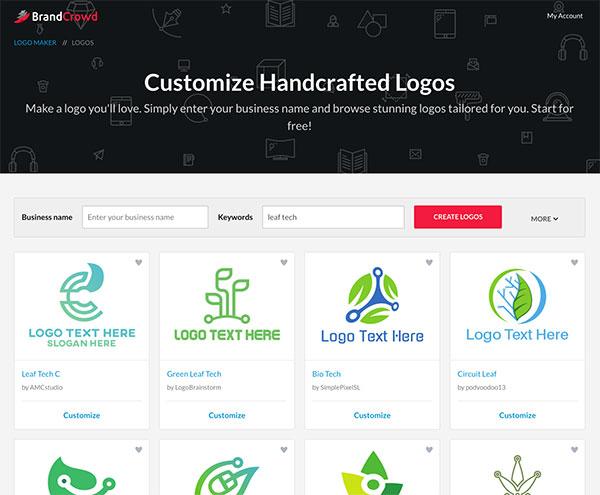 Generate Leaf Logo Ideas