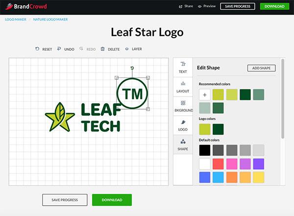 Editing Shape To Logo