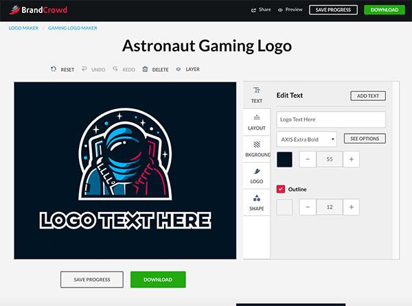 Astronaut Gaming Logo