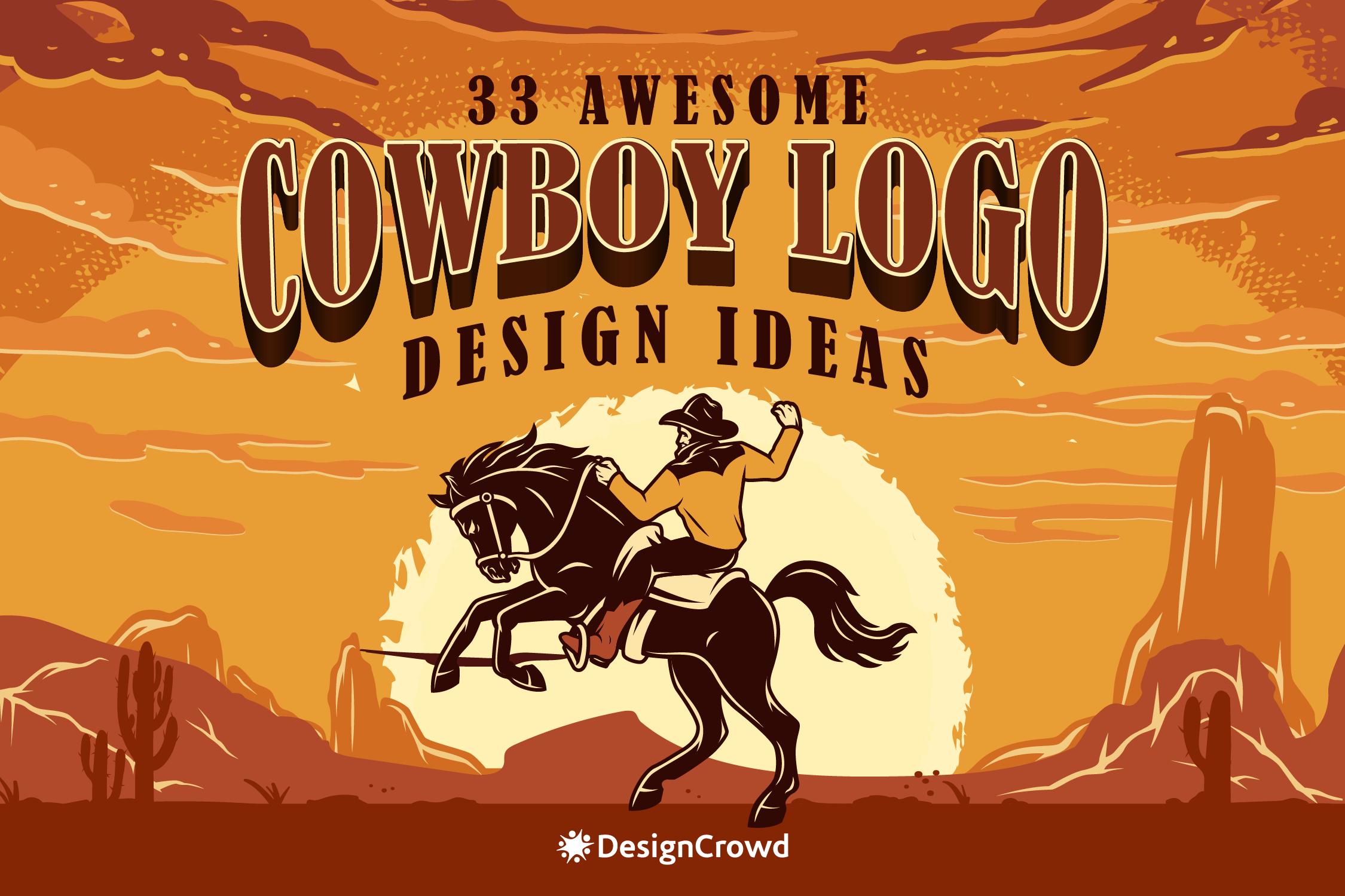 33 Awesome Cowboy Logo Design Ideas