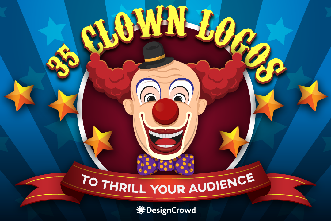 35 Clown Logos to Thrill Your Audience blog thumbnail
