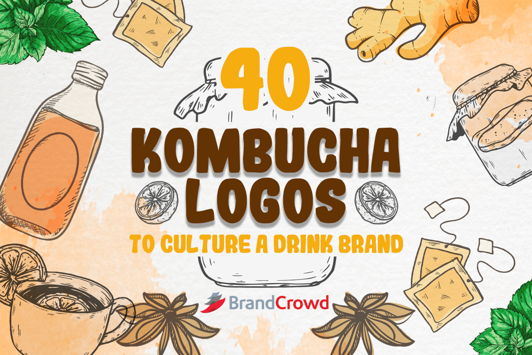 40 Kombucha Logos to Culture a Drink Brand blog thumbnail