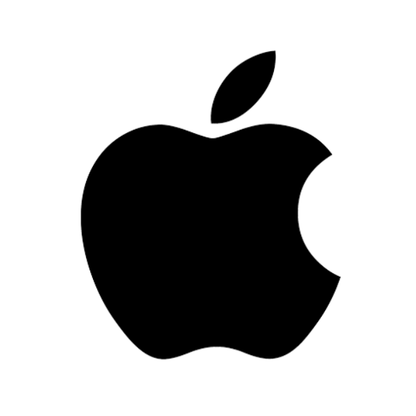 This image has an empty alt attribute; its file name is 1998-black-apple-logo.png