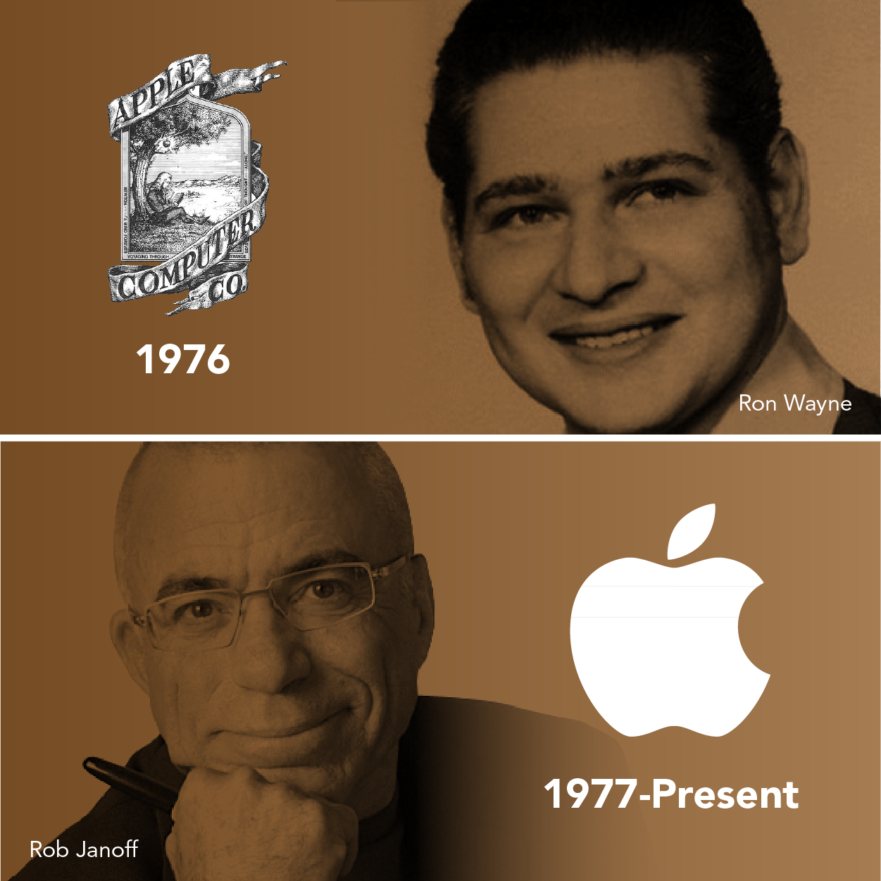 This image has an empty alt attribute; its file name is meet-the-designers-logo-history-of-apple-designcrowd-blog.png