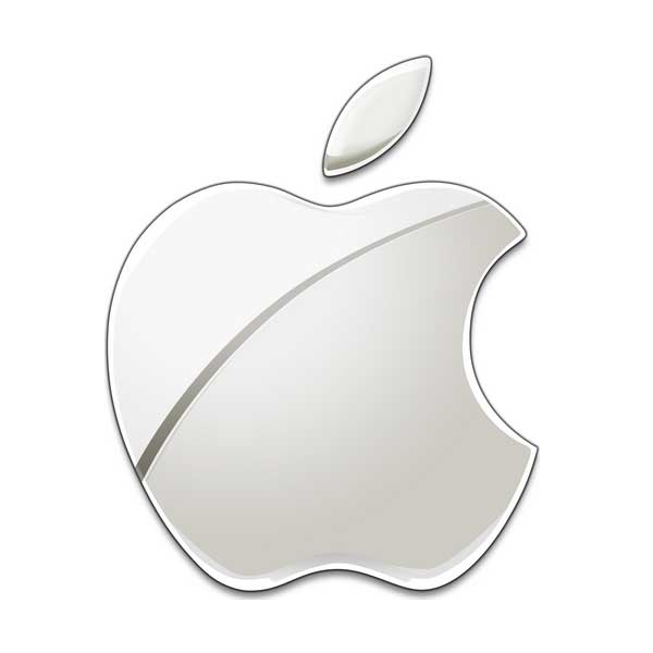 This image has an empty alt attribute; its file name is present-chrome-apple-logo.png