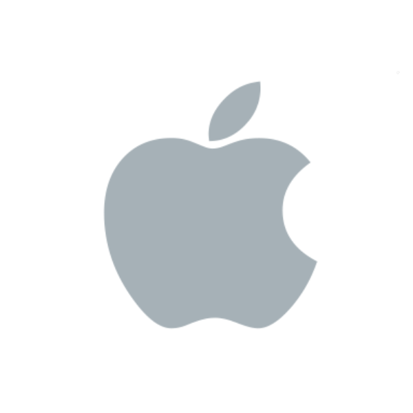 This image has an empty alt attribute; its file name is present-grey-apple-logo.png