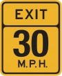 maximum recommended speed sign