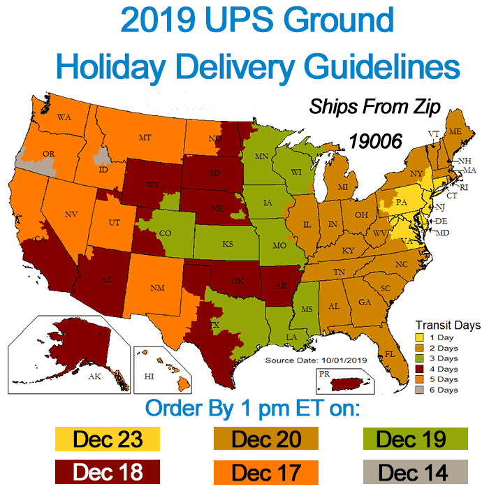 Holiday UPS Shipping Guidelines